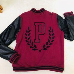PINK Victoria's Secret Jackets & Coats - PINK Victoria's Secret ruby red varsity jacket